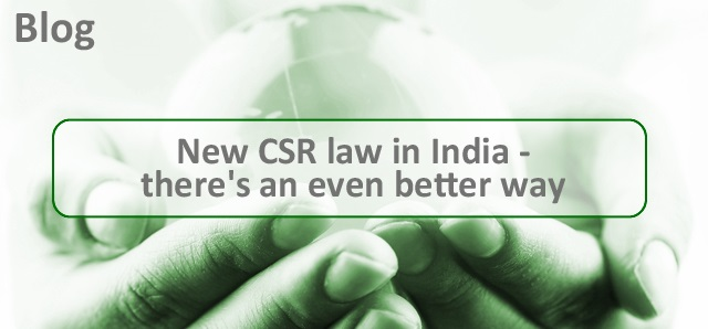 New CSR law in India - there's an even better way